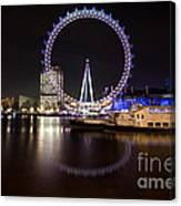 London Eye Night Canvas Print