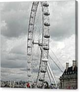 London Eye On The River Thames Canvas Print