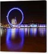 London Eye Reflections Canvas Print