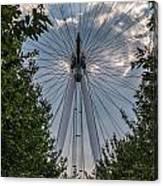 London Eye Vertical Panorama Canvas Print