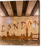 London Graffiti Skyline Canvas Print