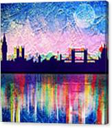 London In Blue  Canvas Print