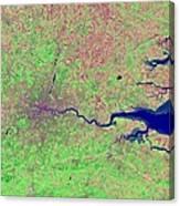 London, Infrared Satellite Image Canvas Print