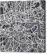 London Map Art Canvas Print