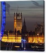 London Night Skyline Cityscape Canvas Print