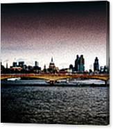 London Over The Waterloo Bridge Canvas Print