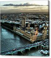 London - Palace Of Westminster Canvas Print