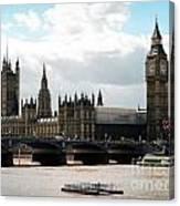 London Parliament Building Canvas Print