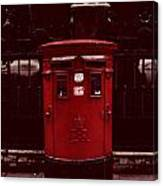 London Post Box Canvas Print