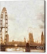 London Skyline At Dusk 01 Canvas Print