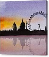 London Skyline At Sunset Canvas Print