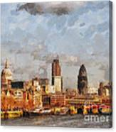 London Skyline From The River  Canvas Print