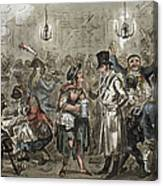 London: Slum, 1821 Canvas Print