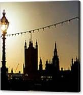 London South Bank Silhouette Canvas Print