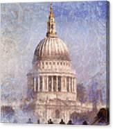 London St Pauls Fog 02 Canvas Print