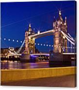 London Tower Bridge By Night Canvas Print