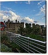 London Underground And The Tower Of London Canvas Print