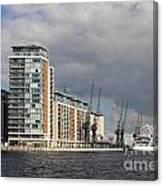 London Victoria Dock Canvas Print
