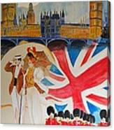 London Vintage Poster Canvas Print