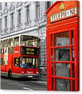 London With A Touch Of Colour Canvas Print