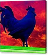 London's Blue Rooster  Canvas Print