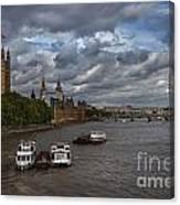 London's Thames River Canvas Print
