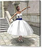 Lone Ballet Dancer Canvas Print