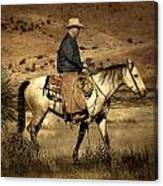 Lone Cowboy Canvas Print