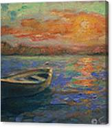 Lone Dinghy Canvas Print