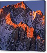 Lone Pine Peak - February Canvas Print