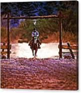 Lone Rider Canvas Print