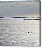 Lone Shrimper Canvas Print