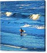 Lone Surfer 1 Canvas Print