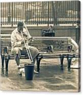 Lone Trombone Player Canvas Print