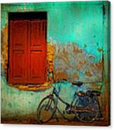 Lonely Bicycle Canvas Print