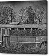 Lonely Bus  Canvas Print