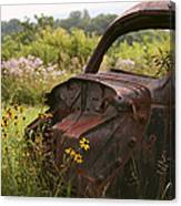 Lonely Car On The Prairie Canvas Print