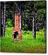Lonely Fireplace Canvas Print