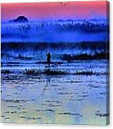 Lonely Fisher Canvas Print