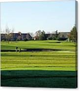 Lonely Golfer Canvas Print