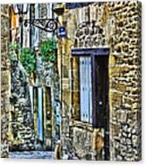 Lonely Lane In Sarlat France Canvas Print