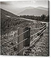 Lonely Mountain Road Canvas Print