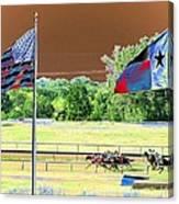 Lonestar Park - Backstretch - Photopower 2205 Canvas Print