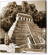 Long Ago In Mayan Palenque Canvas Print