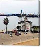 Long Beach Bay California / Tintbrush Effect Canvas Print