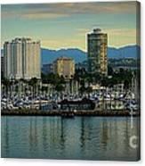 Long Beach Cityscape   Canvas Print