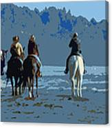 Long Beach Horses Study Canvas Print