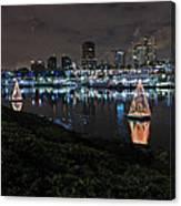 Long Beach Lights Canvas Print