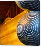 Long Buddha Statue Canvas Print