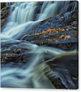 Long Exposure Of Little High Falls Canvas Print